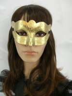 Golden Luxurious Masquerade Mask & Gold Mask