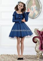 Sweet Pure Jewelry Blue Denim Casual Lolita Dress