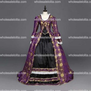 Renaissance Gothic Dress Gown Vampire Reenactment Theater Clothing