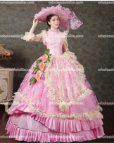 Princess Pink Marie Antoinette Inspired Prom Dress Birthday Party/Quinceanera Ball Gown
