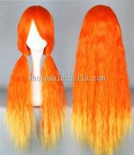 Hot Sale Harajuku Style Fasion Golden Red Noodles Roll Lolia Wigs