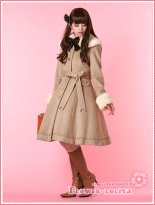 Hot Sale Beige Wool Hooded Classic Lolita Coat