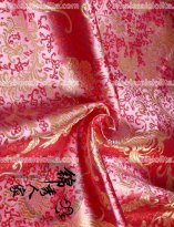 High-End Rose Floral Jacquard Silk Fabric