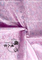 High-grade Tapestry Royal Gorgeous Light Pink and Blue Flower Brocade Fabric