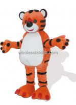 Red and White Adult Tiger Mascot Costume